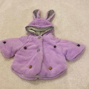 Funkyberry purple bunny coat 5